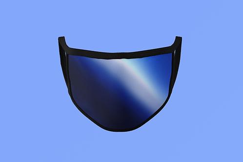 SAPPHIRE REFLECTIVE/SHINY METAL FACE MASK
