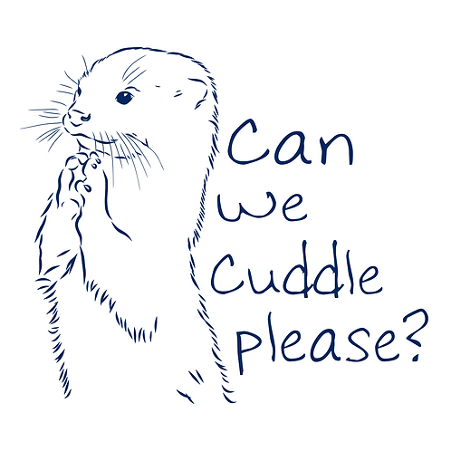 CAN WE CUDDLE PLEAESE STICKER