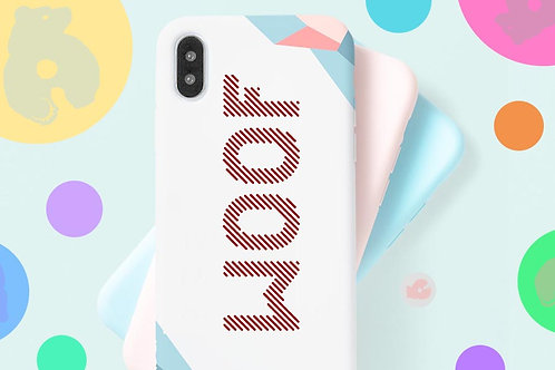 WOOF -PHONE SIZE- DECAL