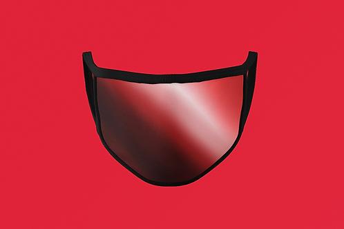 RUBY REFLECTIVE/SHINY METAL FACE MASK