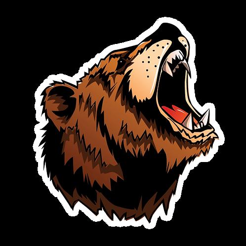 BEAR GROWL STICKER