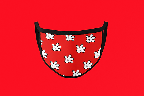 RED MICKEY GLOVE FACE MASK