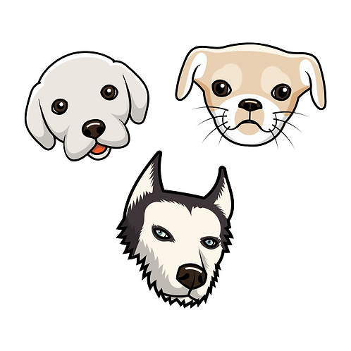 PUP PACK #1 (Medium) STICKERS