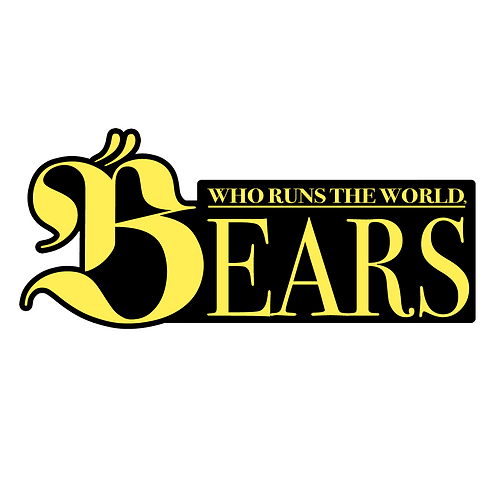 WHO RUNS THE WORLD BEARS STICKER