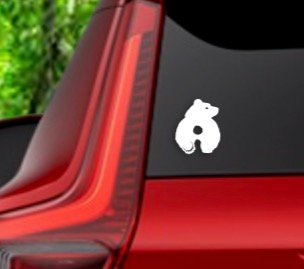 BRUCE THE BEAR DECAL