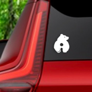 SMALL BRUCE THE BEAR DECAL- FAMILY PACK