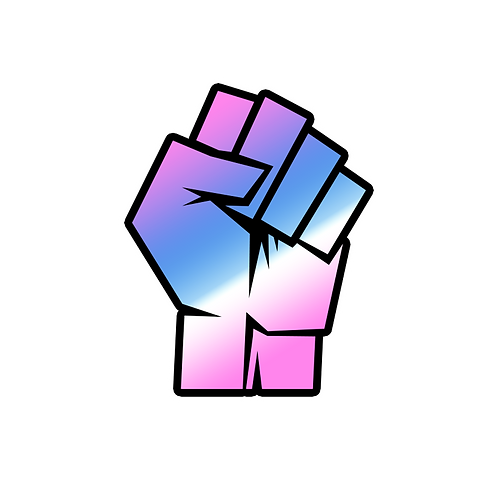 TRANS PRIDE FIST STICKER