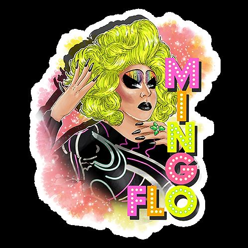 FLO MINGO Sticker
