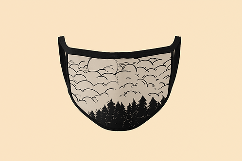 SKETCH OF THE GREAT OUTDOORS FACE MASK