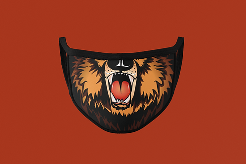 BROWN  BEAR MOUTH  FACE MASK