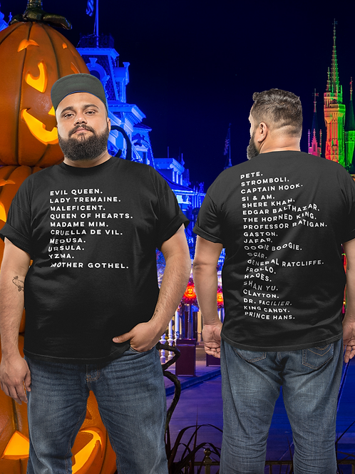 VILLAINS OF DISNEY (FRONT & BACK)