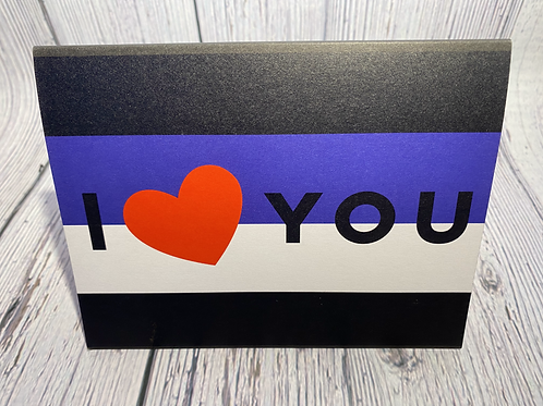 (LEATHER PRIDE) I LOVE YOU CARD