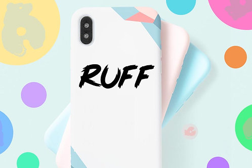 RUFF -PHONE SIZE- DECAL