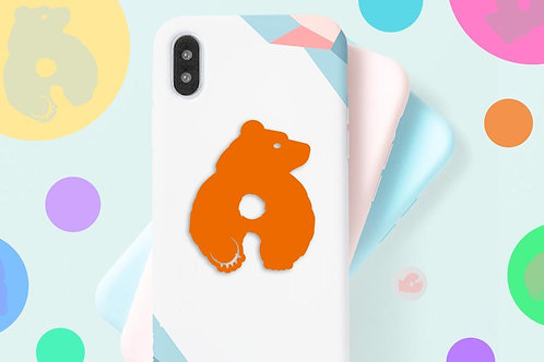 BRUCE THE BEAR  -PHONE SIZE- DECAL