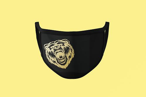 GOLD FIERCE BEAR FACE MASKS