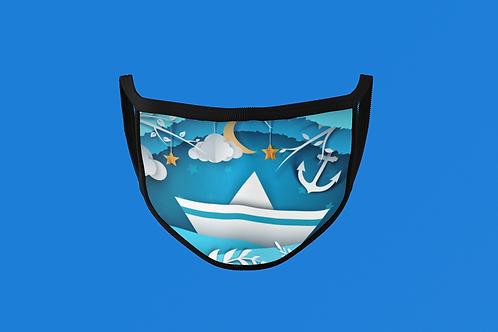 PAPER CRAFT SAIL BOAT FACE MASK