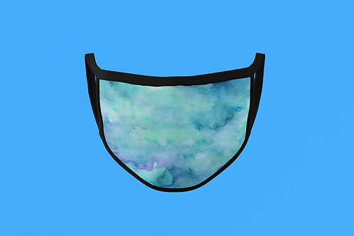 BLUE/GREEN WATERCOLOR FACE MASK