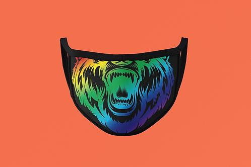 RAINBOW BEAR MOUTH  FACE MASK