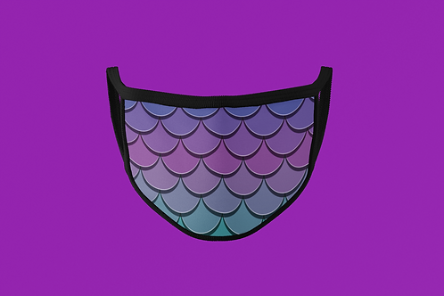 PURPLE TO GREEN SCALES FACE MASK