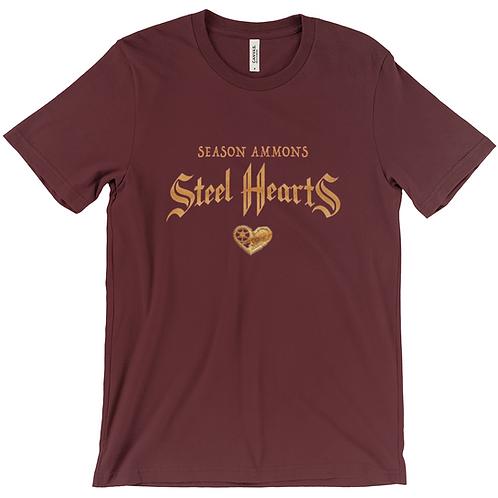 Steel Hearts T-Shirt (Maroon)
