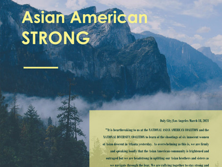 Asian American STRONG - STATEMENT FROM FAITH BAUTISTA on the Atlanta Shootings of Asian Women