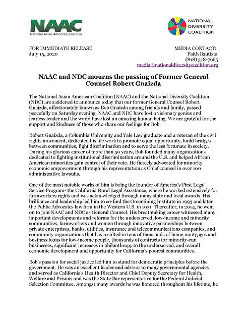 NDC NAAC Press Release_Bob Gnaizda_Page_