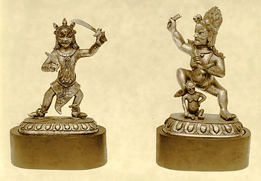 collection-of-bronze-figurines-depicting
