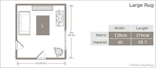 ETC Splinter Teal 120x170cm