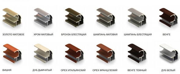 Алюминиевый профиль для раздвижных дверей шкаф купе от производителя МФВ
