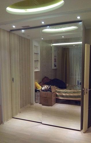 Шкафы-купе с зеркальными дверями на заказ в Москве от производителя МФВ