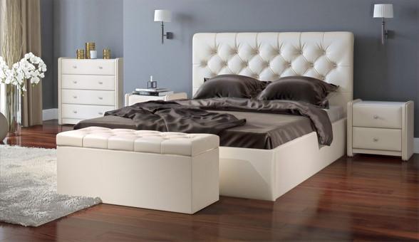 Кровать с каретной стяжкой и подъемным механизмом на заказ во Владимире и в Москве от производителя МФВ