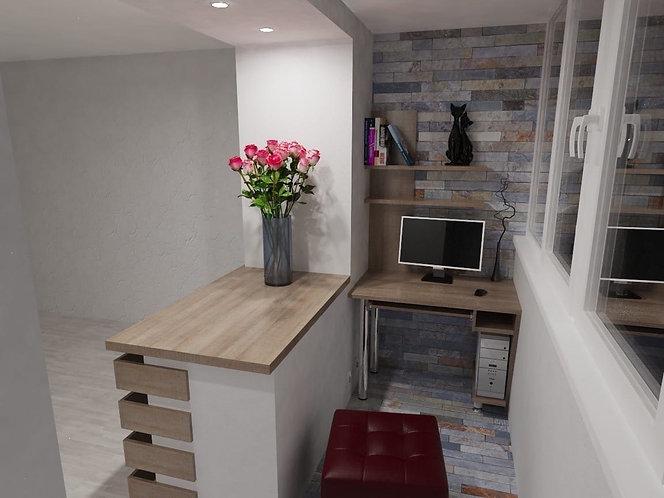 Мебель на балкон и лоджию на заказ в Москве от производителя МФМ