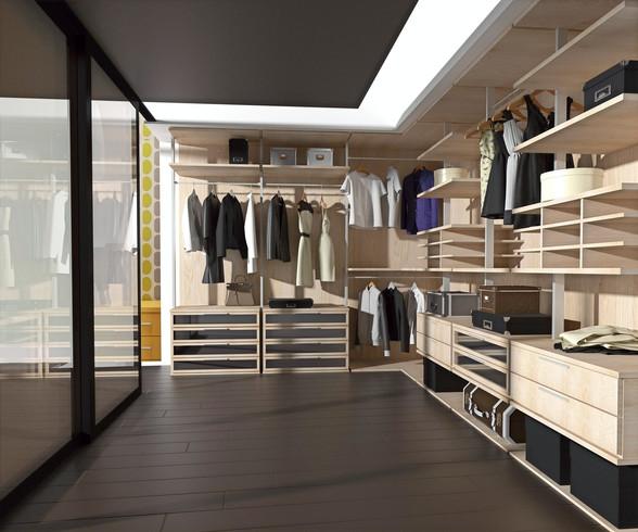 Гардеробные комнаты на заказ в Москве от производителя МФВ