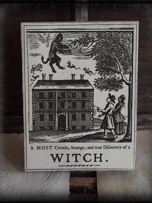 Wooden Witch Plaques: I,II,III