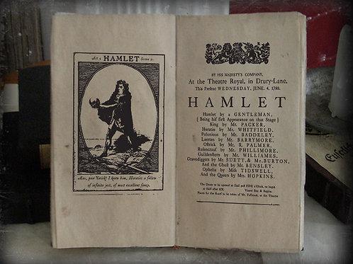 Hamlet. Playbill 1788