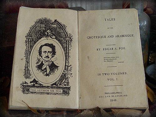 Edgar Allan Poe. Tales of the Grotesque and Arabesque. 1840