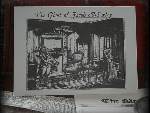 "A Christmas Carol Greeting Card. Ghost of Jacob Marley (5""x7"")"