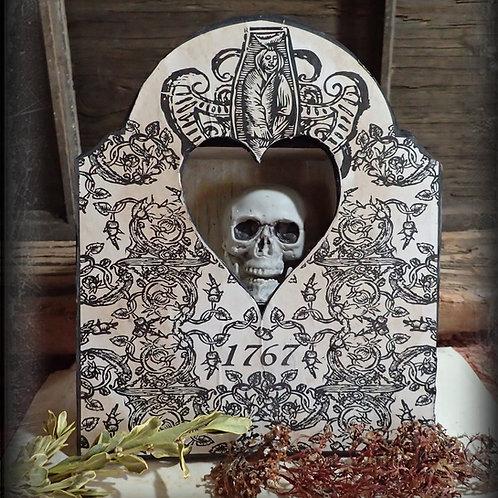 Ossuary Skull Box. Memento Mori. 1767
