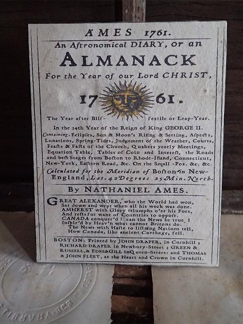 Ames Almanack: 1761.