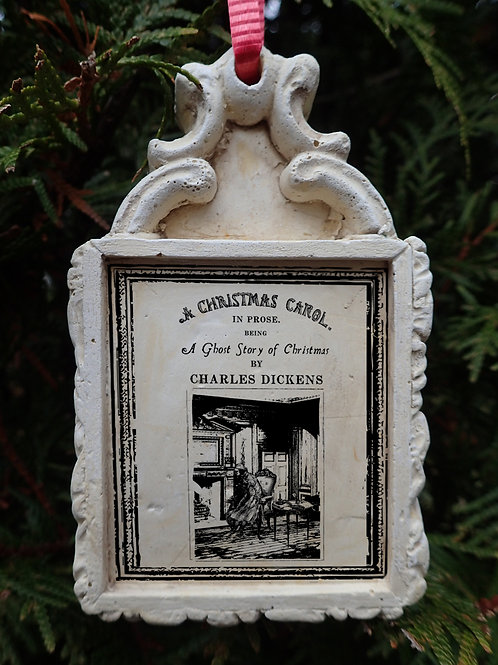 A Christmas Carol Tree Ornament. Titlepage