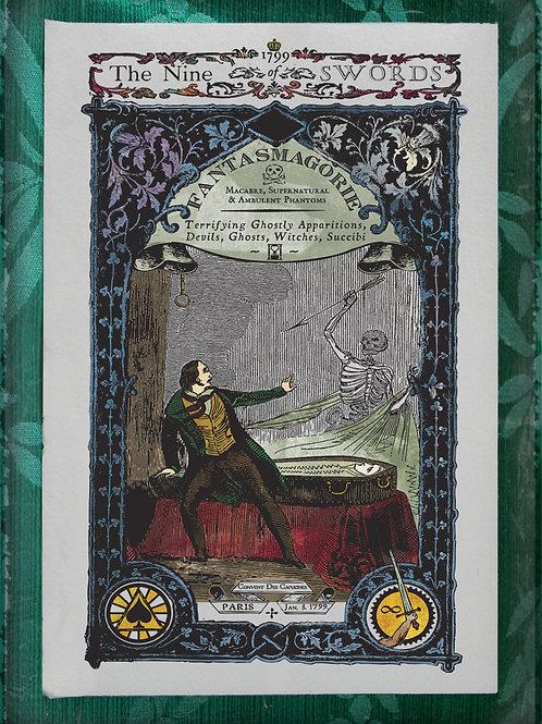 The Industrial Sublime Tarot: Nine of Swords (Phantasmagoria)