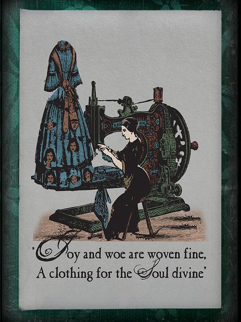 William Blake. Auguries of Innocence. Original Blake inspired Art: Sewing