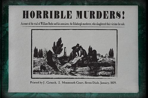Horrible Murders: Burke and Hare 1829.