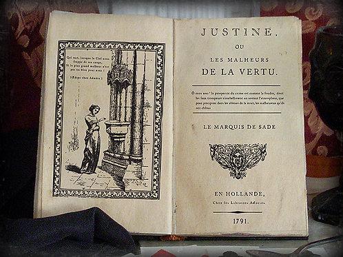 Marquis De Sade. Justine. 1791