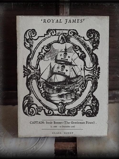 'The Royal James'. Stede Bonnet
