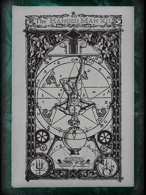 The Industrial Sublime Tarot: Major Arcana: The Hanged Man to The World (B&W)