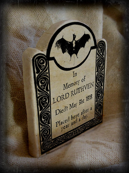 Gothic Literary Character Tombstone: Lord Ruthven