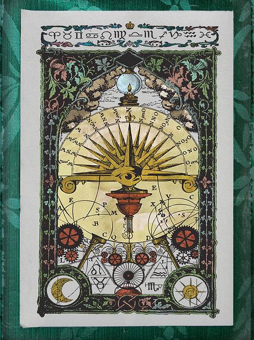 The Industrial Sublime Tarot: Freemasonry Card