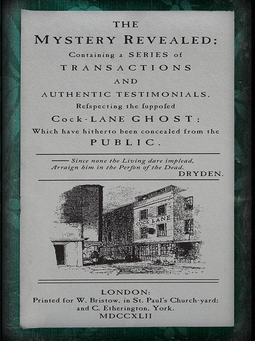 Cock Lane Ghost. 1762
