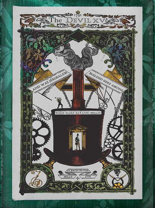 The Industrial Sublime Tarot: The Devil (Jerusalem William Blake)